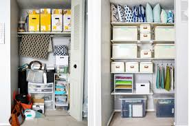 organizing your home office. Office Closet Before And After // How To Organize Your Craft Organized Organizing Home