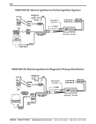 msd ignition wiring diagrams msd 6m 2l marine ignition to points ignition system