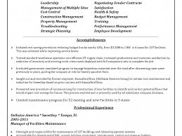 Comfortable Maintenance Manager Resumes Gallery Entry Level