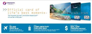 Aloha 50k Miles With Hawaiian Airlines Credit Card