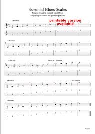 Country Guitar Scales Chart Essential Blues Scale The Acoustic Guitarist