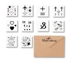 New переводные татуировки Symbols 10 шт Lady Losk