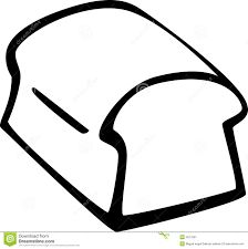 slice of bread outline. Modren Slice Slice Of Bread Clipart Black And White To Outline B