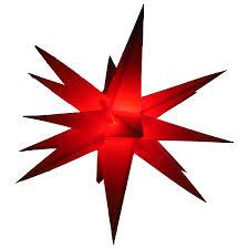 Außenstern Rot Beleuchteter Stern Ca 55 Cm