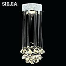 waterfall crystal chandelier swarovski light in chrome crystal chandelier