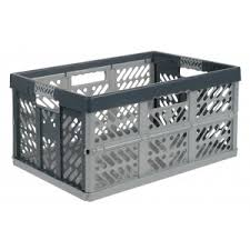 45 Ltr Extra Strong <b>Folding Plastic Storage Crate</b>   Solent Plastics