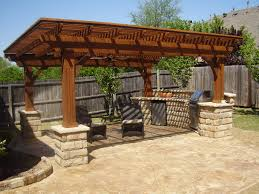 Outdoor Kitchen Roof Patio Fun With Slanted Roof The Great Outdoors Of Decor