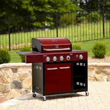 kenmore liquid propane gas grill. kenmore 4 burner red lp gas grill with storage *limited availability* liquid propane