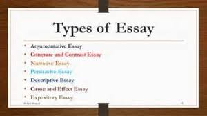 types essay writing all types essay writing