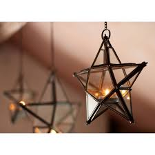 Glass Star Light Nkuku Antique Zinc Glass Star