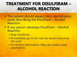 Disulfiram Reaction Antabuse Therapy