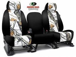 skanda mossy oak break up winter black seat covers