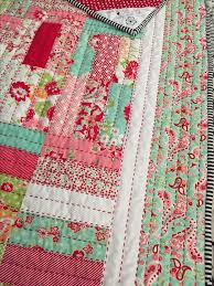 The 25+ best Hand quilting ideas on Pinterest | DIY hand quilting ... & Big stitch using Jelly Roll Jam pattern in Scrumptious fabric by Bonnie &  Camille Hand quilted Adamdwight.com
