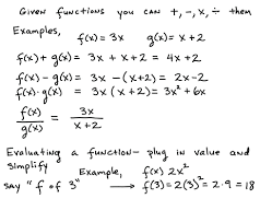 function operations algebra 2 math function operations mathematics for machine learning