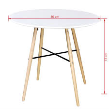 Vidaxl Esstisch Buchenholz Esszimmertisch Küchentisch Tisch Mdf Rund