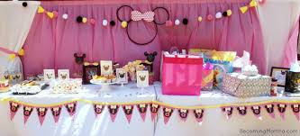 Pink And Black Minnie Mouse Decorations Minnie Mouse Party Decor Becoming Martha