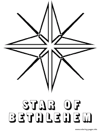 Small Picture Bethlehem Christmas Star Coloring pages Printable