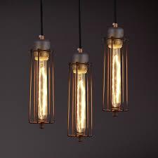 warehouse style lighting. Satin Nickel Single Light Mini Cage Restaurant Pendant Warehouse Style Lighting