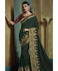 Jade Designer Sarees Good Looking Jade Silk Saree