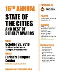 state of the cities berkley area chamber of commerce state of the cities berkley huntington woods and the schools dda and chamber