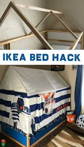 learn how to make an ikea bed tent with this easy involving curtains and a