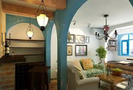 Open Living Room Kitchen Designs Mid Century Of Mediterranean Style Kitchen Combined With Open Plan