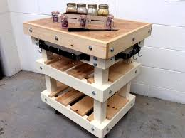 furniture of pallets. diy pallet butcher block style kitchen island furniture of pallets u