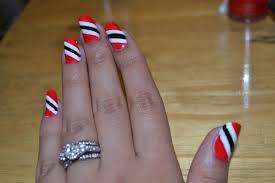 Trinidad Flag Nail Design Trinidad Nails Crazy Nails Nail Designs Nails