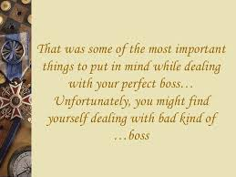 Dealing With A Bad Boss How To Deal With Your Boss