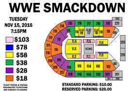 Ppl Center Seating Chart Wwe Wwe Smackdown Live Mohegan Sun Arena