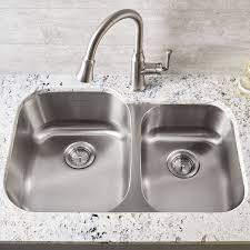 Portsmouth Undermount Double Bowl Kitchen Sink American Kitchen Sink
