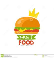 fast food restaurant logos crown. Download Fast Food Logo Design Burger Sign With Crown Menu Vector Illustration Throughout Restaurant Logos