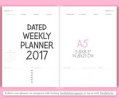 Agenda Printable Weekly Planner Template August Calendar Editable ...
