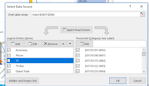 Excel Vba Updating Chart Series Stack Overflow