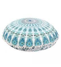 Floor Pillows And Poufs Large Mandala Floor Pillows Round Bohemian Meditation Cushion