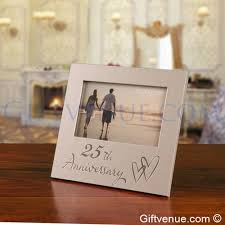 25th Silver Wedding Anniversary Frame Gifts For Couples Married 25