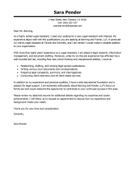 Cozy Legal Assistant Cover Letter Sample No Experience 39 On