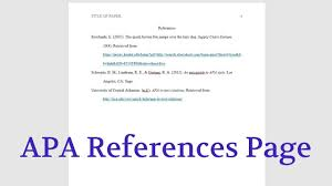The References Page Citation Style Apa Libguides At Keuka College