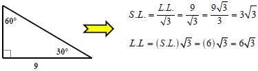 30 60 90 triangle formula. case #3: i know the long leg 30 60 90 triangle formula t