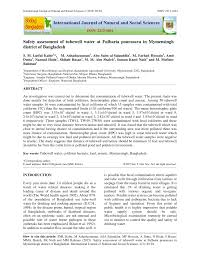 pdf essment of physicochemical and bacteriological quality of diffe surface water sles of tangail district desh