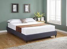 Worldwide Home Furnishings 101469 Tufted Linen Platform Bed Linen Platform Bed