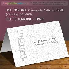 Free Greeting Card Printables Congratulations On Your New Baby Card Free Printables Online