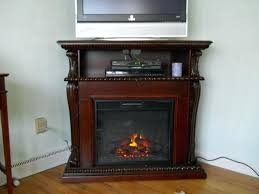 electric fireplace tv stand costco big lots heater corner stands with