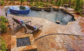 designs of concrete patio ideas with fire pit