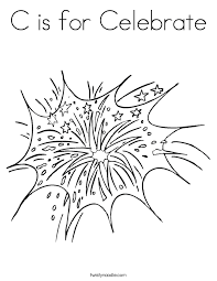 Small Picture fireworks on the lake Coloring Page Twisty Noodle