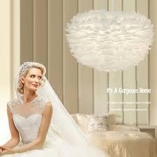 Wedding Lamp <b>Feather</b> Chandelier <b>LED Nordic Creative</b> Pendant ...