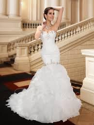 Sweetheart Beading Court Traintrumpet Wedding Dress Tbdress Com