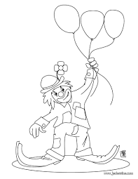 Coloriages Coloriage D Un Clown Avec Des Ballons Fr Hellokids Com