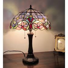 chloe tiffany style victorian design 2 light dark bronze table lamp lamp com