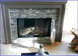 glass mosaic tile fireplace surround gas smoke arabesque mantels fireplace mantel tile wall